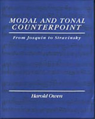 Modal and tonal counterpoint from josquin to stravinsky