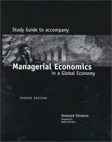 Managerial Economics In A Global Economy Study Guide