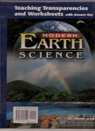 Modern Earth Science: Teaching Transparencies and Worksheets with Answer Key (Teaching Transparencies and Worksheets with Answer Key)