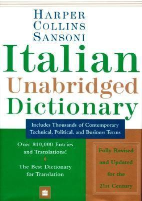 Harper Collins Sansoni Italian Unabridged Dictionary