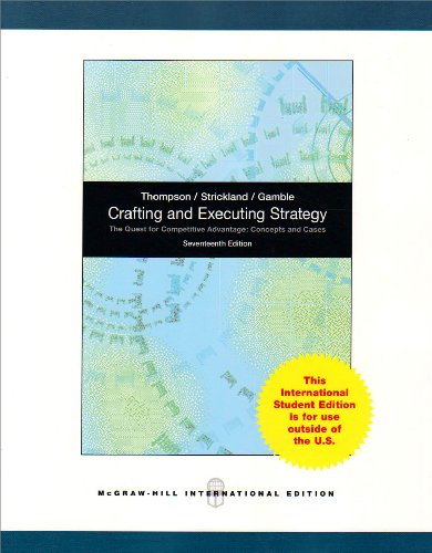 crafting and executing panera case solutions Solution manual for crafting & executing strategy: product description (comprehensive) solution manual for crafting case 9: panera bread company.