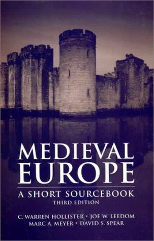 Medieval Europe: A Short Source Book