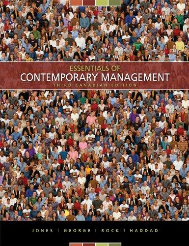 Essentials Of Contemporary Management 5th Edition - Textbook Solutions