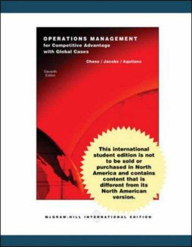 Operations Management for Competitive Advantage: With Student DVD and OLC Card