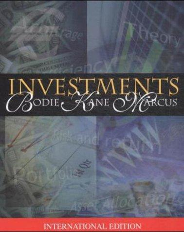 Investments (McGraw-Hill/Irwin Series in Finance, Insurance, and Real Est)