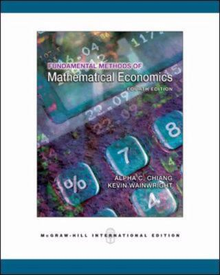 fundamental methods of mathematical economics 4th edition pdf