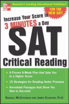 Increase Your Score in 3 Minutes a Day Sat Critical Reading