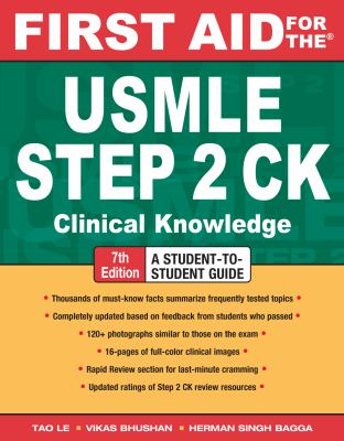 First Aid for the USMLE Step 2 CK, Seventh Edition (First Aid USMLE)
