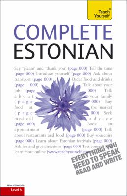 Complete Estonian with Two Audio CDs: A Teach Yourself Guide (Teach Yourself Language)