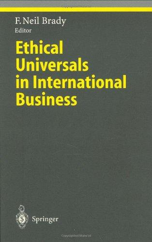 Ethical Universals in International Business (Ethical Economy)