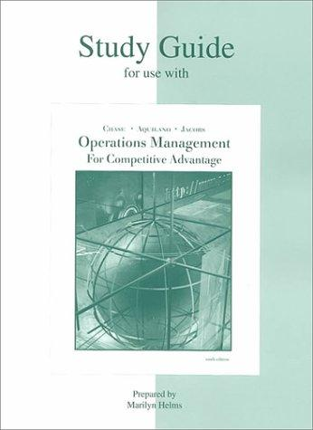 Study Guide for use with Production and Operations Management