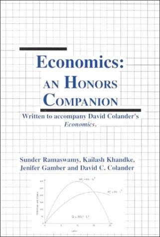 Honors Companion to accompany Economics