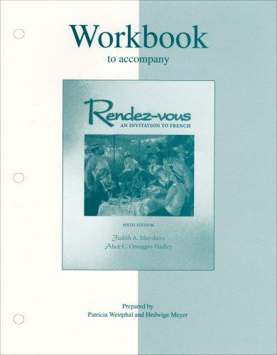 Workbook to accompany Rendez-vous: An Invitation to French