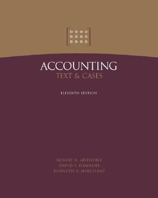 solution accounting text and cases anthony hawkins and merchants Use of specific technological solutions second  (anthony, hawkins, &  merchant, 2010 rafiq & garg, 2002)  accounting texts & cases.