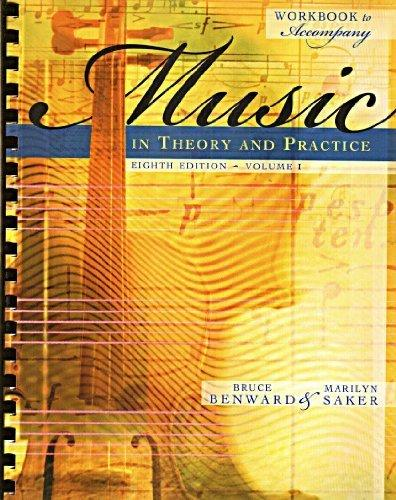 Workbook t/a Music in Theory and Practice, Volume I