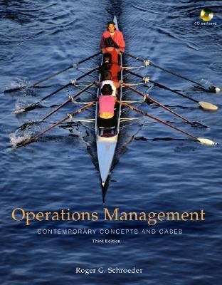 Operations Management Contemporary Concepts And Cases