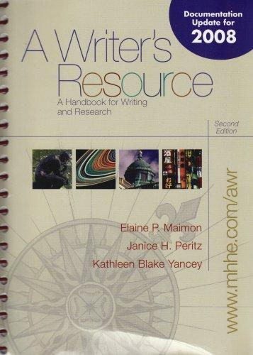 Examination Copy a Writer's Resource a Handbook for Writing and Research Second Edition