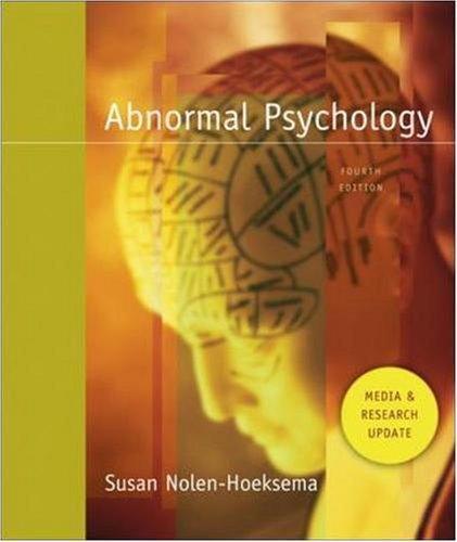 Abnormal Psych Med/Resch Ud