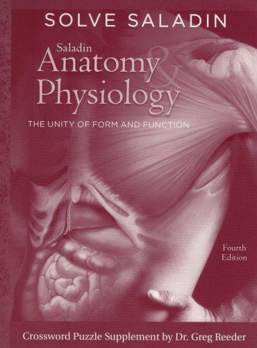 Solve Saladin: Anatomy & Physiology crossword puzzles specially prepared for Anatomy & Physiology: The Unity of Form and Function, 4th edition by Ken Saladin