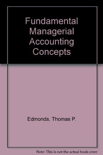 Fundamental Managerial Accounting Concepts Package Edition border=