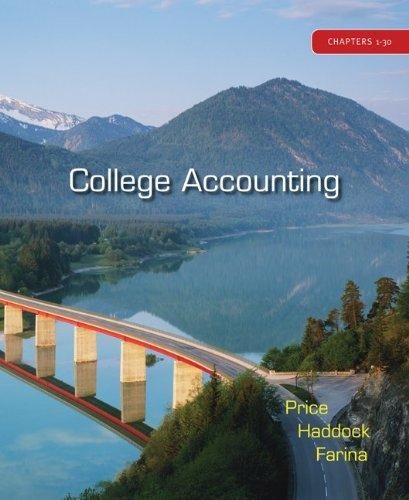 College Accounting: Chapters 1-30, 12th Edition, with Home Depot 2006 Annual Report