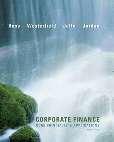 Loose-Leaf Corporate Finance: Core Principles and Applications