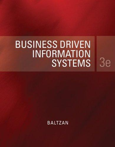Loose-Leaf Business Driven Information Systems