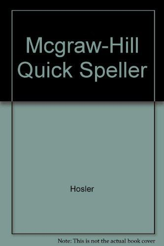 The Mcgraw-Hill Quick Speller, Student Text