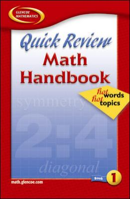 Quick Review Math Handbook Hot Words, Hot Topics, Book 1