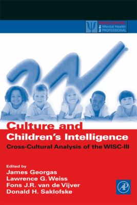 Culture and Children's Intelligence Cross-Cultural Analysis of the Wisc-III