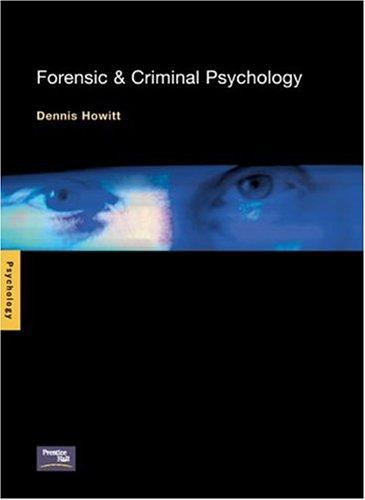 Forensic and Criminal Psychology