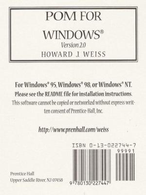 Pom F/windows,version 2.0-cd(sw)