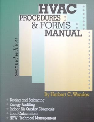 Hvac Procedures And Forms Manual 2nd Edition Rent border=
