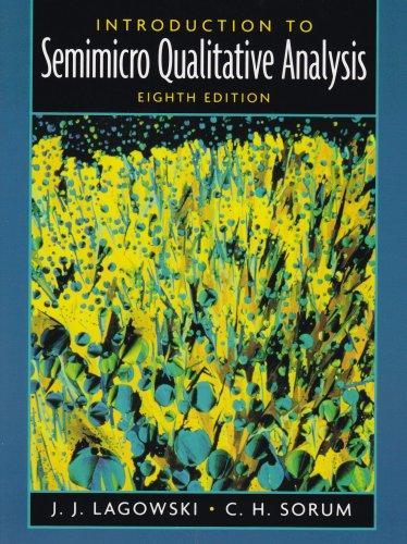 Introduction to Semimicro Qualitative Analysis (8th Edition)