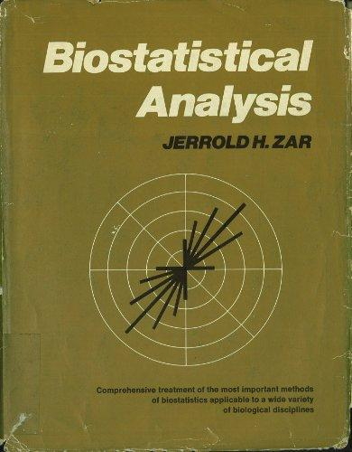 Biostatistical Analysis (Prentice-Hall biological sciences series)