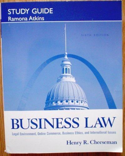 bussiness law study guide The introductory business law examination covers material that  see the clep official study guide 1 ed lives in maine, a state that has a so-called.