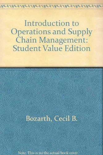 Introduction to Operations and Supply Chain Management, Student Value Edition (2nd Edition)