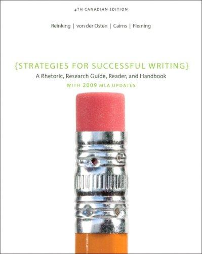 strategies for successful writing a rhetoric research guide