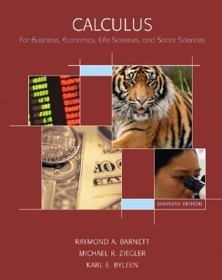 Calculus for Business, Economics, Life Sciences and Social Sciences (11th Edition)