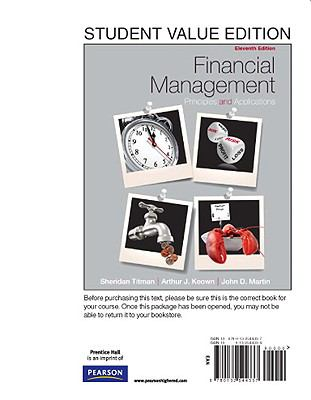 Financial Management : Principles and Applications, Student Value Edition