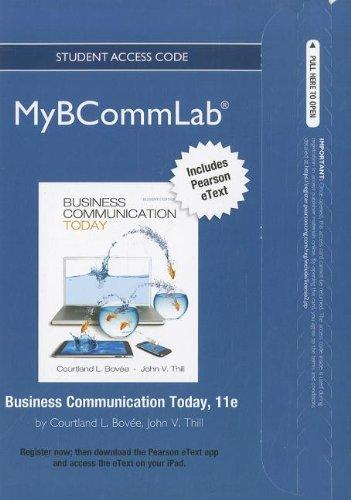 NEW MyBCommLab with Pearson eText -- Access Card -- for Business Communication Today