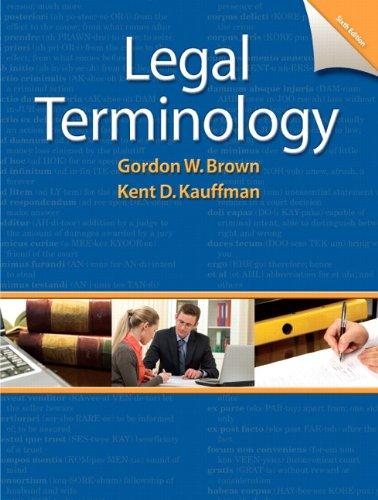 Legal Terminology (6th Edition)