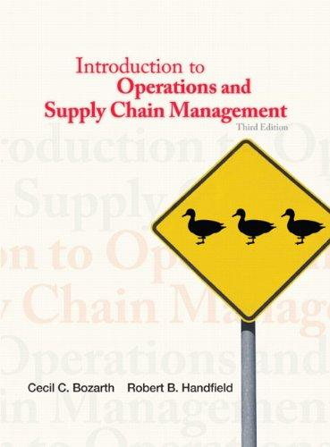 Introduction to Operations and Supply Chain Management (3rd Edition)