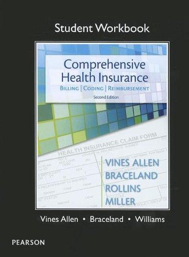 student workbook for comprehensive health insurance