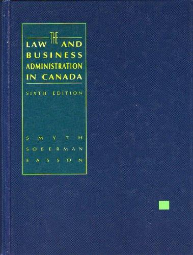 The Law and Business Administration in Canada