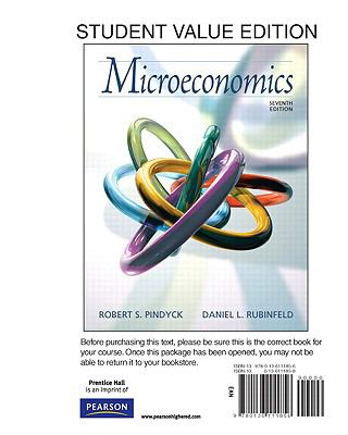Answers to microeconomics 7th edition robert s pindyck