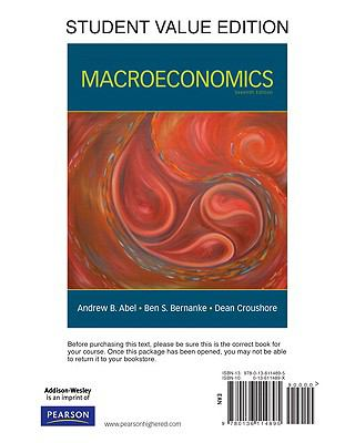 Student Value Edition for Macroeconomics (7th Edition)
