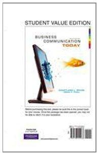 Business Communication Today, Student Value Edition (10th Edition)