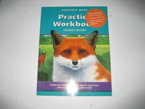 Harcourt Math Practice Workbook (Teacher's Edition)