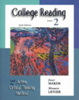 College Reading with the Active Critical Thinking Method, Book 2, 6th Edition